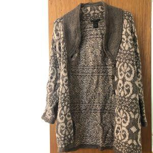 Design History Women's Cardigan Wool Blend Size M